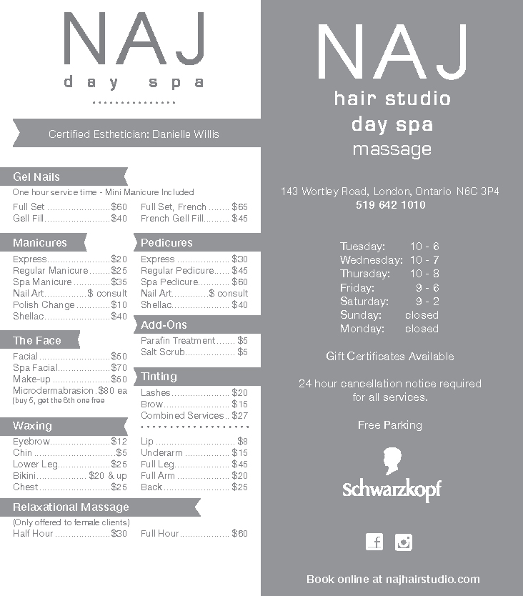 Naj Service Menu Proposal (Conflicted copy from Scotty Potty's Computer on 2014-07-21)